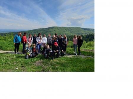 Klasa 4 na wycieczce w górach